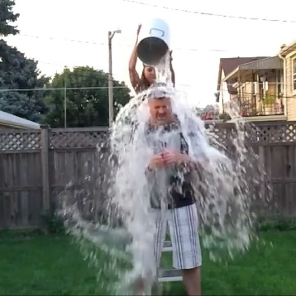 Dennis Jenders completing the #IceBucketChallenge